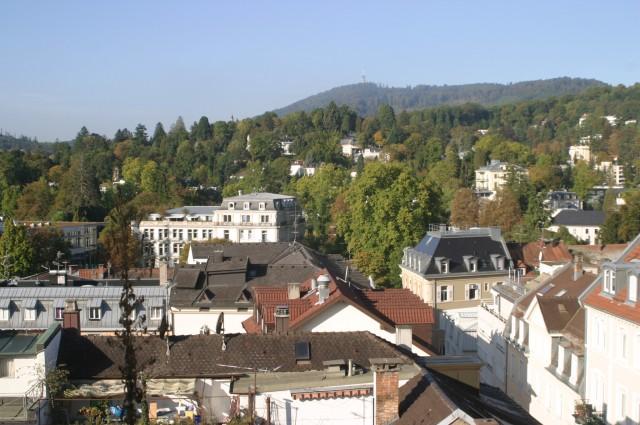 Über den Dächern der kleinen Weltstadt an der Oos.