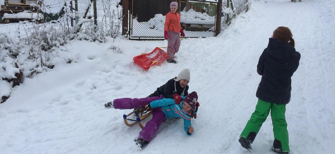 Slider Schneespaß Kinder