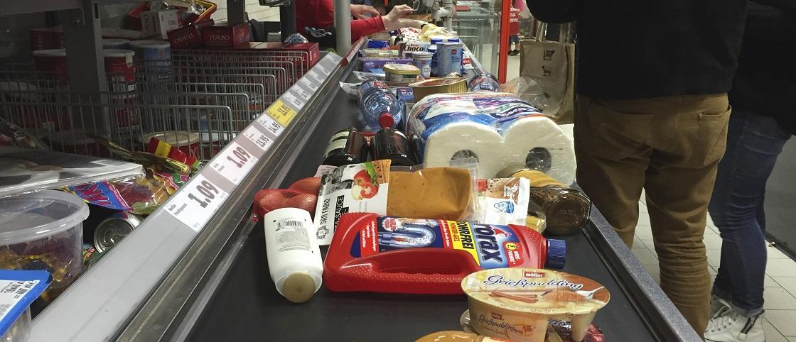 Supermarkt Kasse Slider